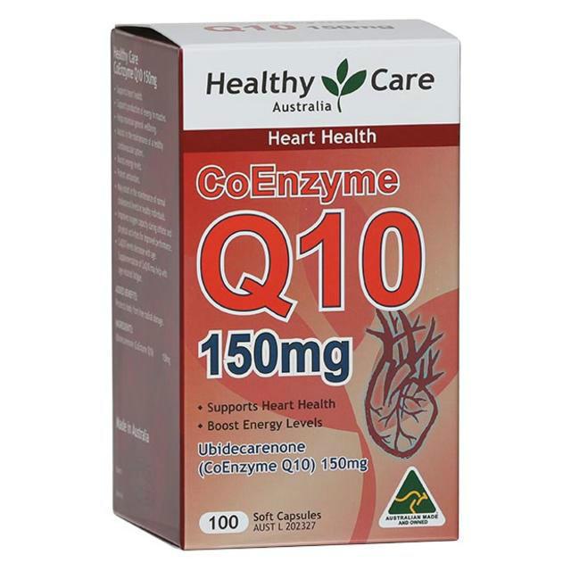 【澳洲CD药房】【特价】Healthy Care Q10胶囊150mg 100粒(保护心脏健康)