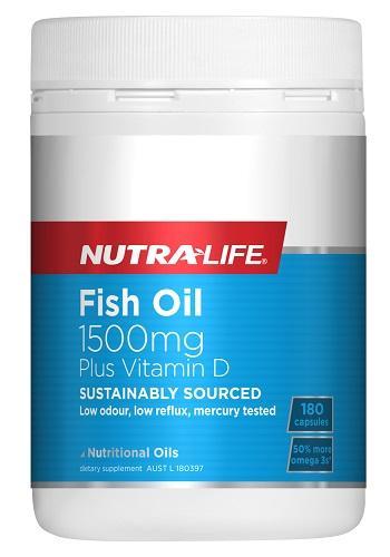 【新西兰PD】【凑单品】Nutralife 纽乐 纯天然深海鱼油+维生素D胶囊 180粒 仅需NZ$12.9/约¥61