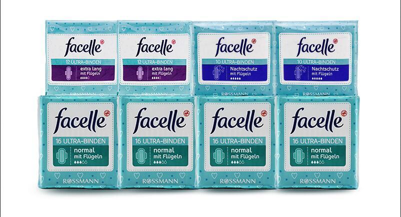 【包邮装】Facelle 菲思乐 日用+夜用护翼型卫生巾套装 8包   商品价格:149元