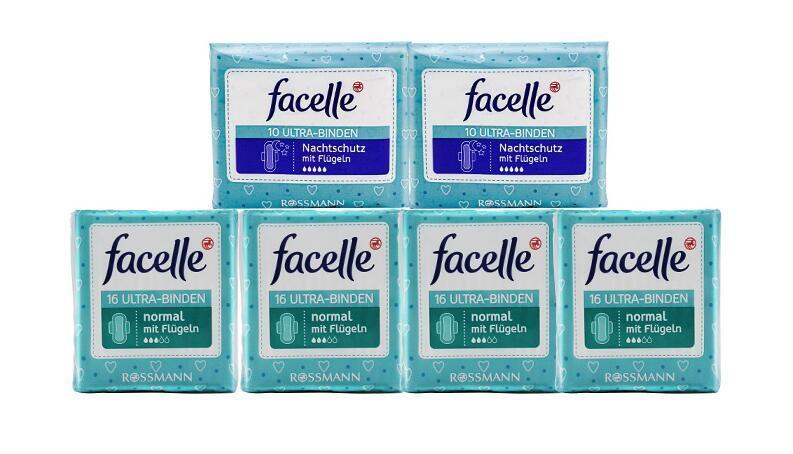 【包邮装】Facelle 菲思乐 日用+夜用护翼型卫生巾套装 6包  商品价格:129元