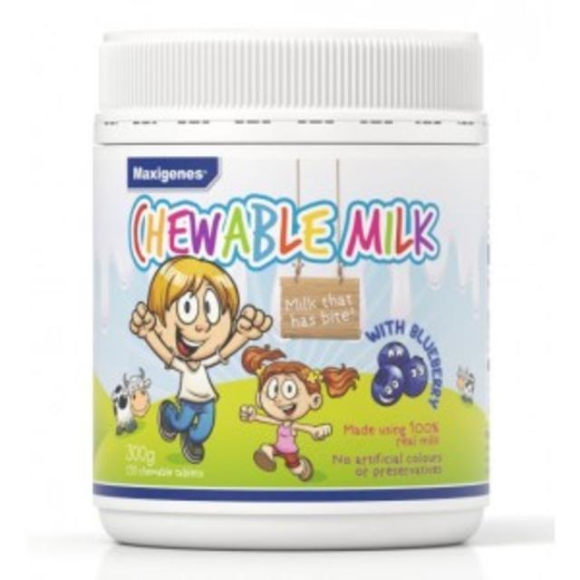 【澳洲CD药房】Maxigenes 美可卓 蓝莓味咀嚼奶片 护眼补钙 150粒