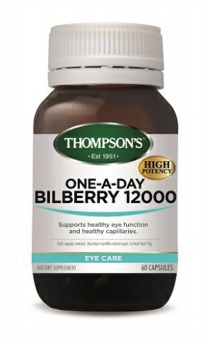 【新西兰PD】【两件包邮】Thompson& 039s 汤普森 蓝莓越橘精华护眼胶囊 12000 60粒NZ$28 5 约¥132