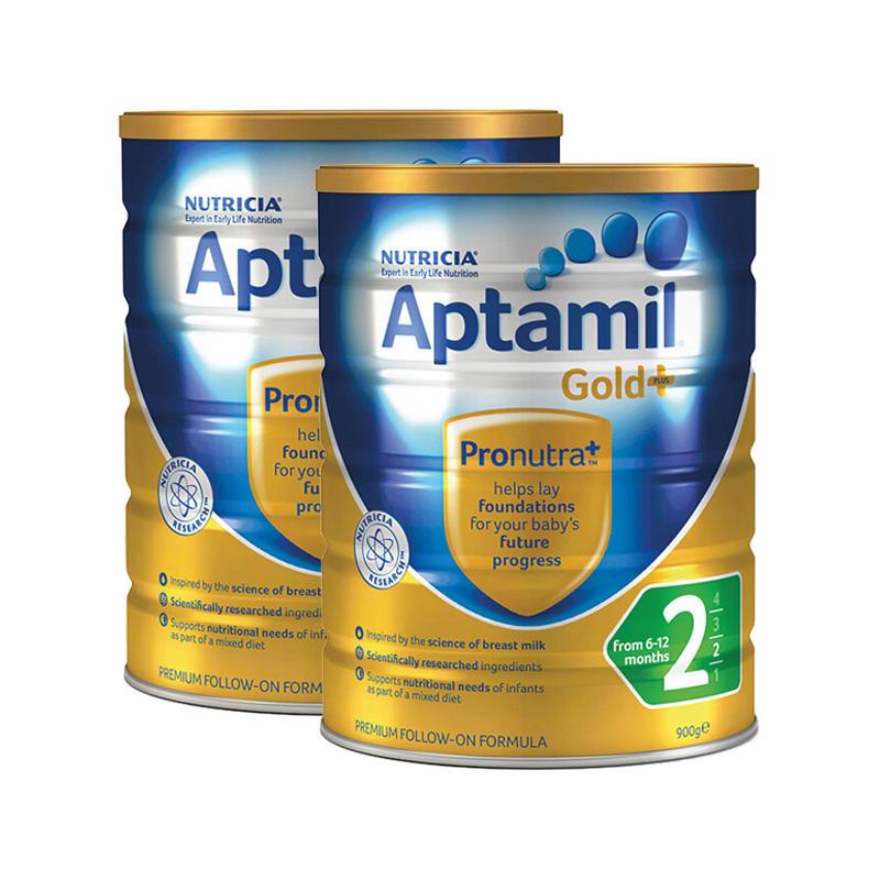 【新西兰PD】【3罐包邮装】Aptamil 爱他美 金装版婴幼儿奶粉 900g 2段 NZ$134 约¥619