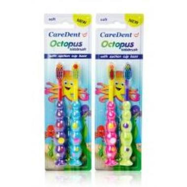 【澳洲PO药房】CareDent 章鱼牙刷 2支装
