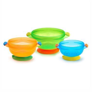 【美国Babyhaven】Munchkin 麦肯奇 满趣健 婴儿防摔吸盘碗 3个装