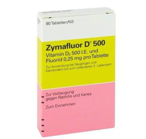 【德国BA】新手妈妈必备 Zymafluor D 500 婴幼儿维生素D 90粒