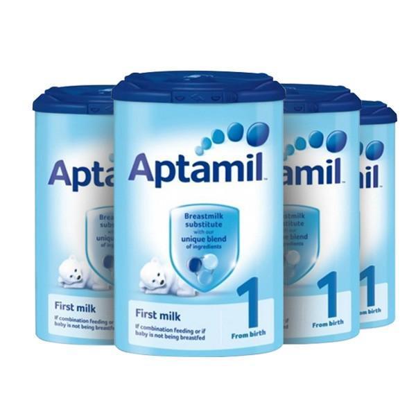 【奶粉满减】【4罐包邮装】Aptamil 爱他美 婴儿配方奶粉1段(0-6m) 900g4罐