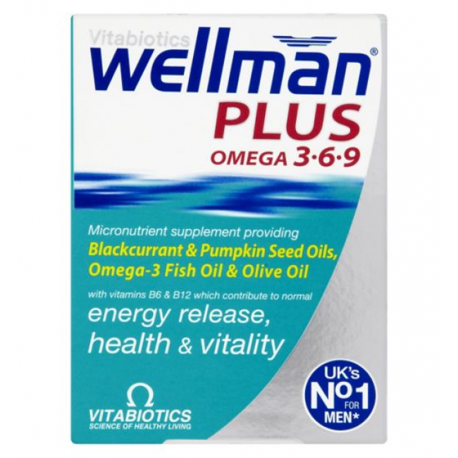 【免邮8折】Vitabiotics Wellman Plus 男性综合维生素 28粒复合营养颗粒+28粒综合鱼油 56粒