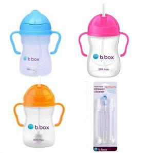 【新西兰KD】【包邮套装】B.Box 宝宝水瓶 重力饮水杯3+B.Box 替换重力棒和清洁刷子  NZ$59/约¥269