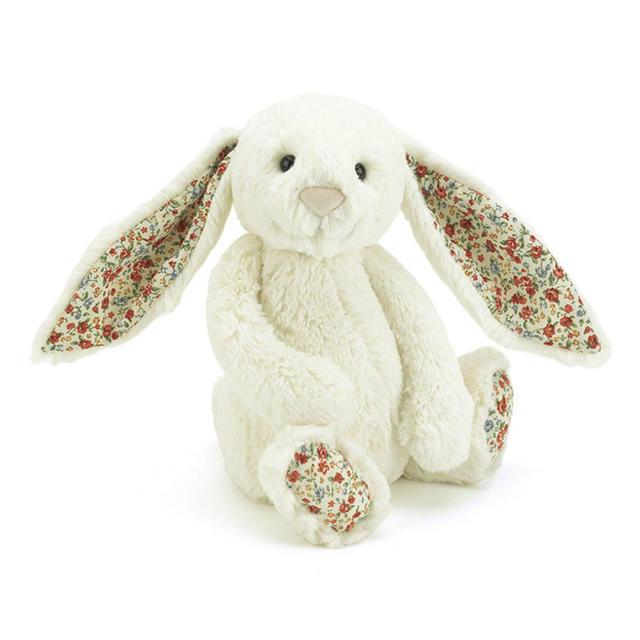 【澳洲CD药房】 Jellycat 超柔软毛绒邦尼兔 碎花乳白色 (小号/450px)