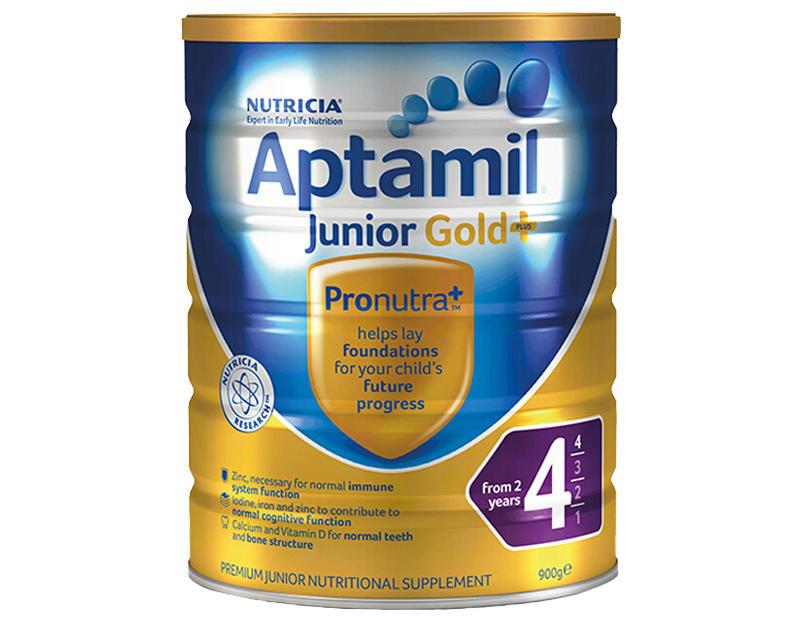 【3件包邮装】Aptamil 爱他美 金装版四段婴幼儿奶粉 3900g 罐 优惠价格:508元
