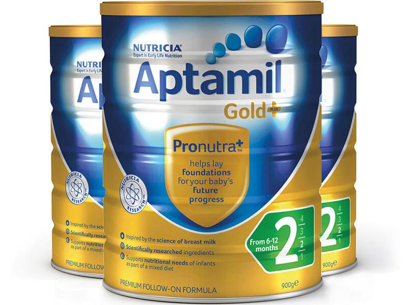 【3件包邮装】Aptamil 爱他美 金装版二段婴幼儿奶粉 3900g 罐 优惠价格:548元