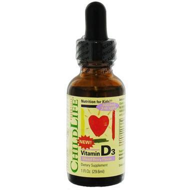 【美国Babyhaven】Childlife 童年时光 维生素D3滴剂 1盎司(29.6毫升)