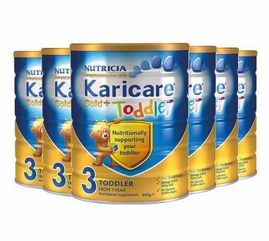【满76纽免邮+3纽】Karicare 可瑞康金装婴儿奶粉 3段 900g6罐 包邮包税