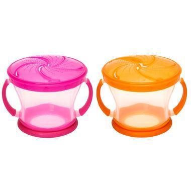 【美国Babyhaven】【最高减11美金】Munchkin 麦肯奇 儿童防漏零食杯 零食罐 2件装 粉色/橘色