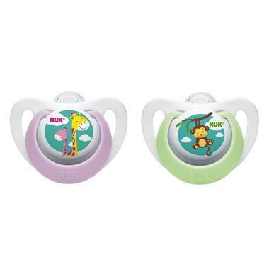 【美国Babyhaven】【最高减11美金】Nuk 纳克 婴儿安抚奶嘴 2个 紫色/绿色