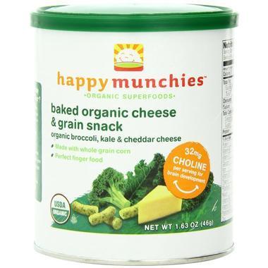 【美国Babyhaven】【最高减11美金】Happy Baby 禧贝 零食包 西兰花、甘蓝和切达干酪