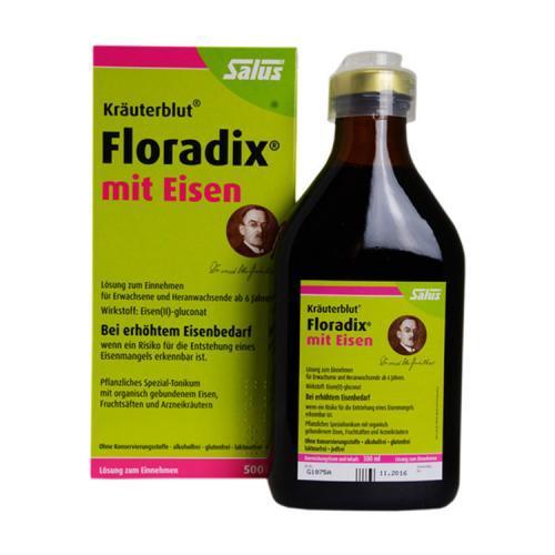 双十一特惠104元!SalusFloradix 铁元 绿铁补铁口服液 500ml!