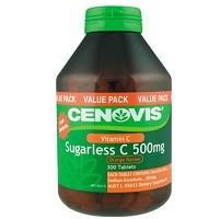 【满88澳免邮3kg!全场满109澳再减6澳】CENOVIS 无糖维生素C橙子味500mg 300片