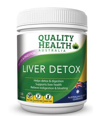 【满76纽免邮+3纽】Quality Health 护肝片120粒 肝脏排毒 澳洲