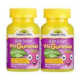 【组合装】Nature&#039s Way 佳思敏 Kids Smart儿童复合维生素软糖 60粒2