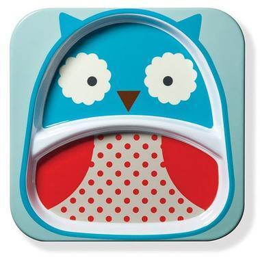 【美国Babyhaven】【最高减11美金】Skip Hop 斯凯雷普 Zoo系列餐具盘 猫头鹰图案