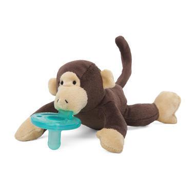 【美国Babyhaven】【最高减11美金】Wubbanub 婴儿布偶安抚奶嘴 猴子