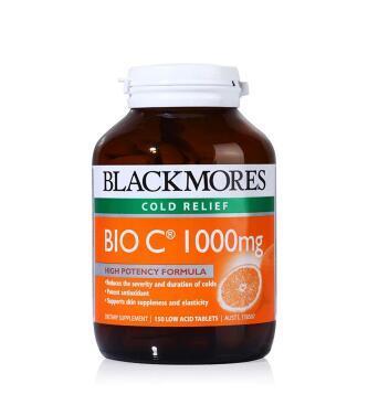 【全场满76纽免邮+3纽】Blackmores 澳佳宝1000mg 天然活性维生素C片 150粒