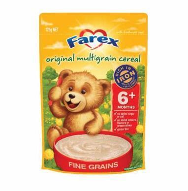 【全场满76纽免邮+3纽】Farex 亨氏 高铁婴儿谷物米粉6个月 原味125g4包