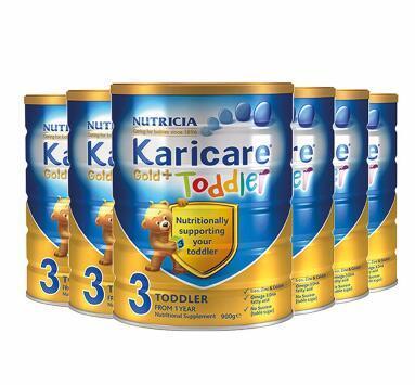 【双11 包邮包税】Karicare 可瑞康金装婴儿奶粉 3段 900g6罐 包邮包税