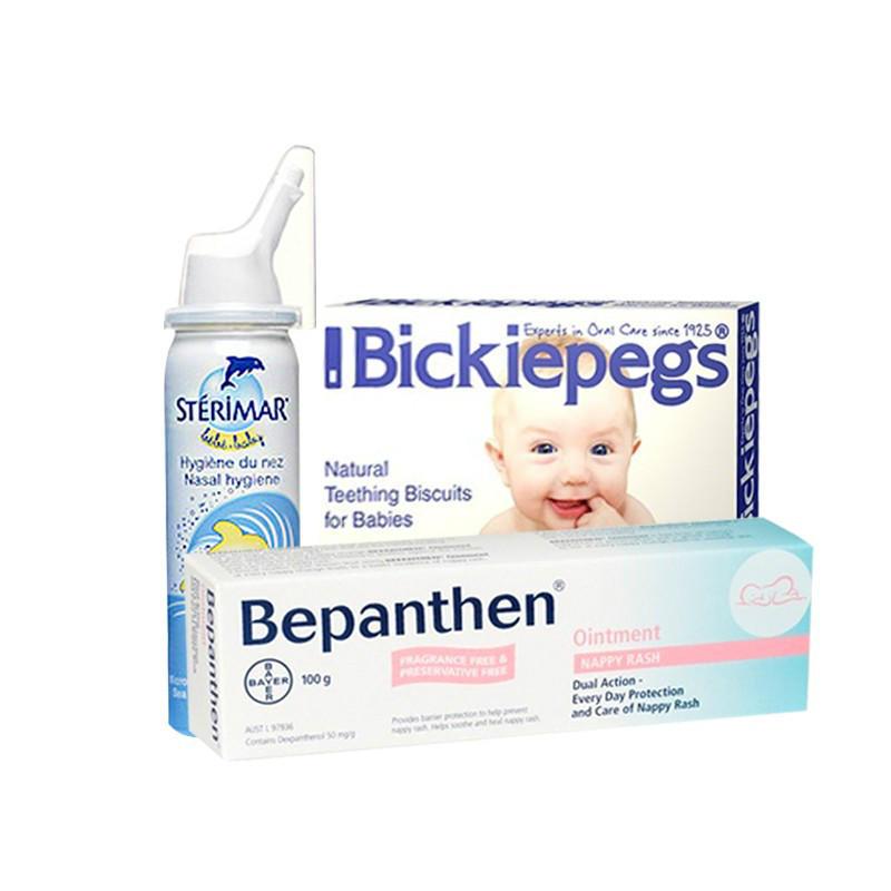 【免邮热销】宝宝全面护理套装 鼻腔喷雾+磨牙棒+湿疹屁屁霜
