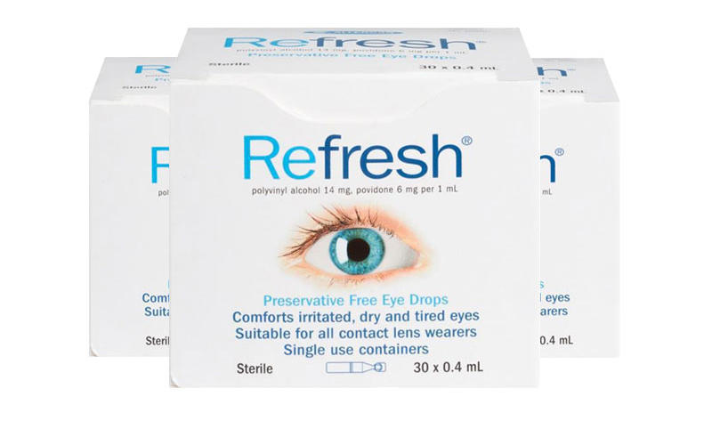 双11【超值套装】【3件包邮装】Refresh 滴眼液眼药水 330支/盒(独立包装/抗疲劳无防腐剂) 优惠价