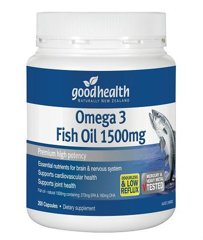【新西兰PD】 【凑单】 Good Health 好健康 1500mg深海鱼油胶囊 200粒 仅需NZ$14.99/约¥69