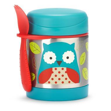 【美国Babyhaven】【用码满55减5】Skip Hop 斯凯雷普 Zoo系列猫头鹰图案隔热食品罐 11盎司