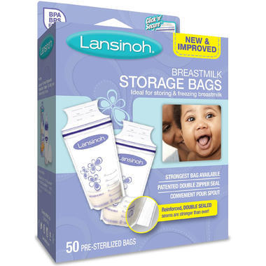 【美国Babyhaven】【3件9折】Lansinoh 兰思诺 母乳储存袋 50个