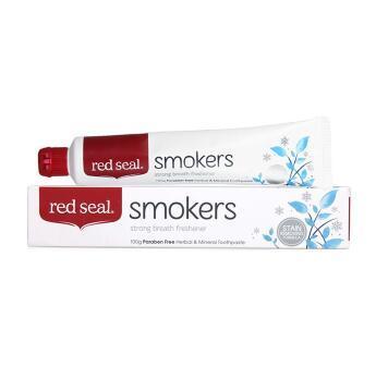 【满76纽免邮】Red Seal 红印牙膏 天然草本去烟渍牙膏 祛除烟渍 100g