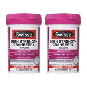 【组合装】Swisse 澳洲蔓越莓精华胶囊 30粒(女性必备)x2