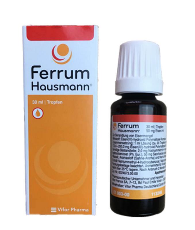 【德国BA】Ferrum Hausmann 早产儿婴幼儿童孕妇 补铁补血液滴剂 30ml