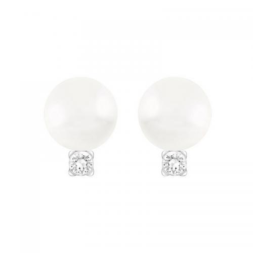 到手价366元!SWAROVSKI 施华洛世奇 白色水晶珍珠耳环!