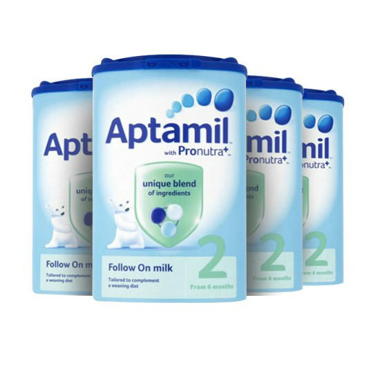 【奶粉满减】【4罐包邮装】Aptamil 爱他美 婴儿配方奶粉2段(6-12m) 900g4罐