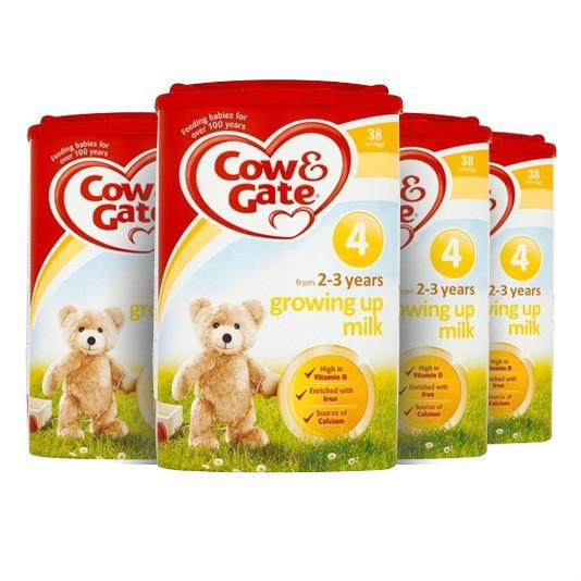 【奶粉满减】【4罐包邮装】Cow & Gate 牛栏 幼儿配方奶粉4段 (2-3岁幼儿)800g4罐