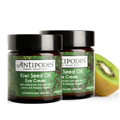 【新西兰KD】【2件包邮装】Antipodes Kiwi Seed 新西兰有机奇异果籽油眼霜 30ml NZ$63.50/约¥286