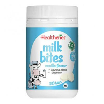 【新西兰KD】【下单立减】【年度低价】Healtheries 贺寿利奶片咀嚼片香草 50片 NZ$9.80/约¥44