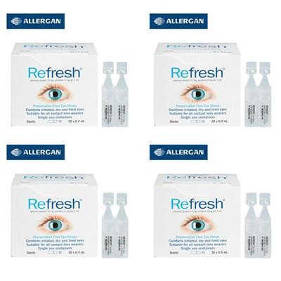 【新西兰KD】【4件包邮装】Refresh 抗疲劳 滴眼液 0.4ml30支  NZ$53.7/约¥243