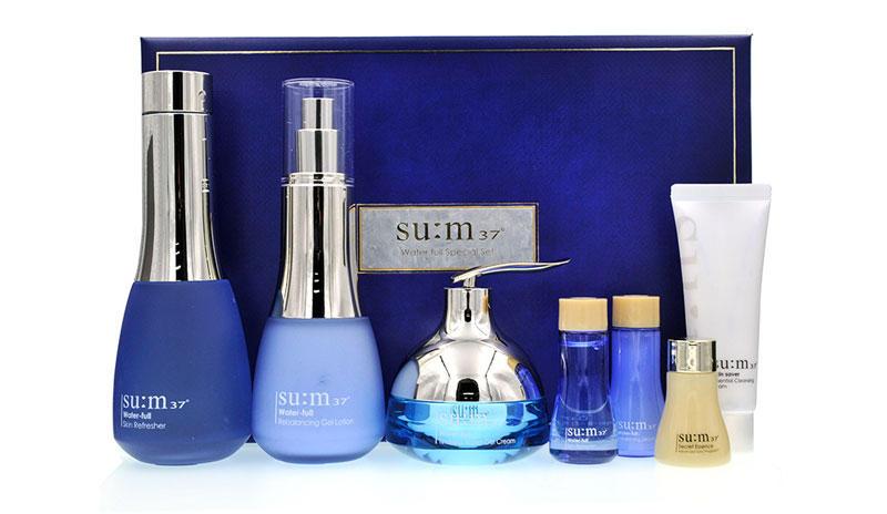 【包邮装】su:m37° 呼吸 惊喜水份水乳霜礼盒 7件套 优惠价格:619元