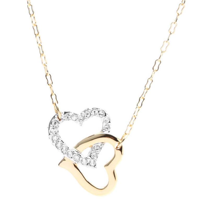 【包邮装】Swarovski 施华洛世奇 双心扣项链人造水晶 1062708 优惠价格:579元