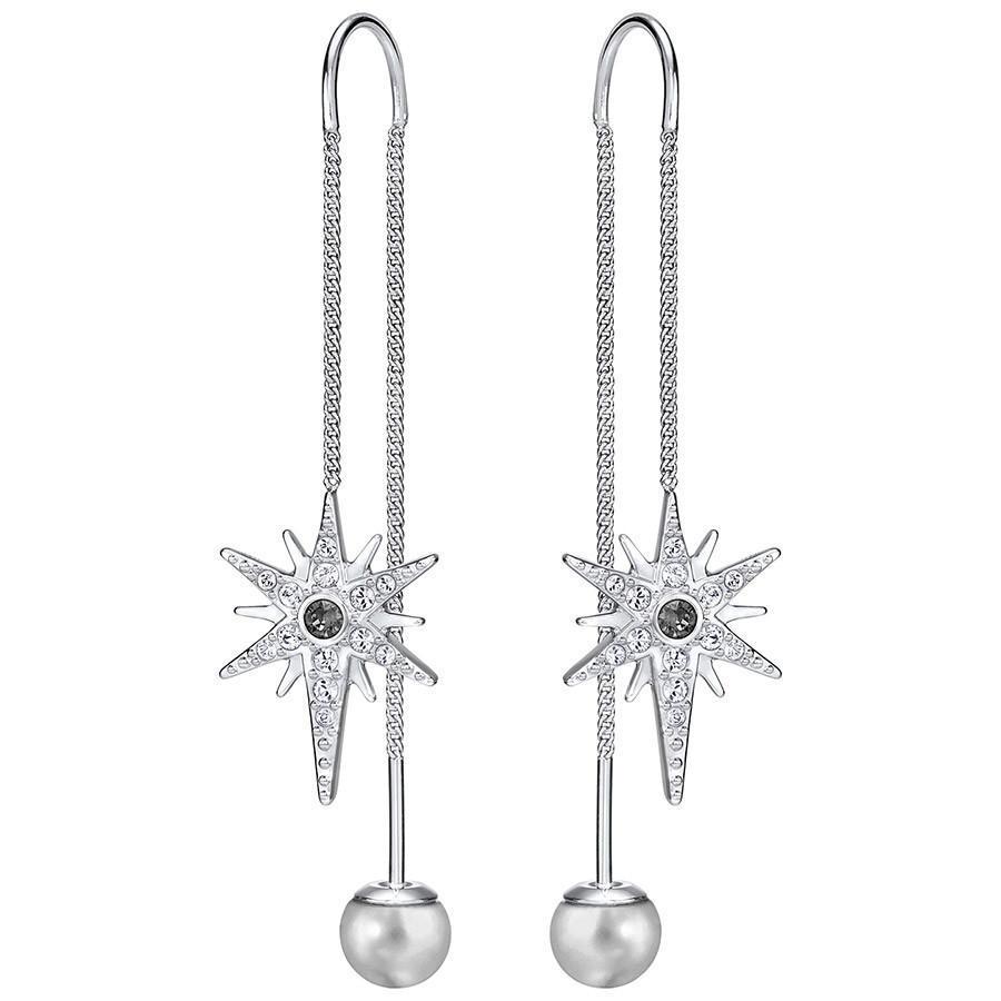【德国BA】Swarovski 施华洛世奇Fantastic流星珍珠穿孔耳环 银色