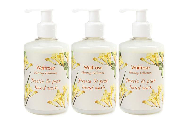 【3件包邮装】Waitrose 经典系列 小苍兰与梨子味洗手液 3250ml 瓶 优惠价格:79元