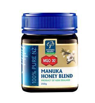 【满78纽免邮】Manuka Health 蜜纽康麦卢卡活性蜂蜜MGO30+ 250g 改善消化不良