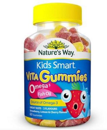 【澳洲PO药房】Nature&#039s Way 佳思敏 Omega-3儿童鱼油咀嚼软糖